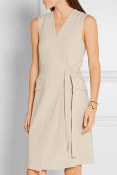 THEORY Livwilth crepe wrap dress  $375.00 https://www.net-a-porter.com/product/677384