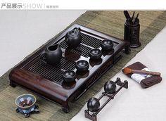 Asian high-grade solid wood tea tray zisha tea set tea pot tea cups coffee sets