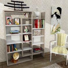 http://www.dekorister.com.tr/sayfa/rafli-kitaplik-modelleri Genişlik: 94 cm Yükseklik: 139,5 cm Derinlik: 22 cm  RENKLER Beyaz-CORDOBA