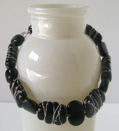 SALE Bracelet. Handmade Glass Beads with by AussieJulesOnline, $45.00 Originally $75