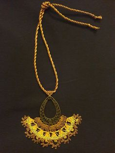 İğne oyası kolye/ point lace technique handmade necklace 💕