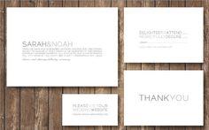 Printable Modern Greige Wedding Invitation Suite