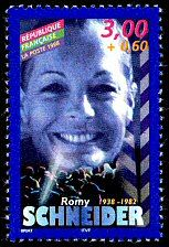 Romy Schneider 1938-1982 Acteurs de cinéma français - Timbre de 1998