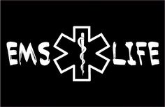 Two EMT Life. These are contour cut, one color vinyl decals rated at up to 6 year outdoor exposure. ONE COLOR VINYL DECAL STICKER. Car Window Decals, Window Stickers, Car Decals, Vinyl Decals, Vinyl Monogram, Monogram Fonts, Nurse Life Decal, Paramedic Quotes, Silhouette Art