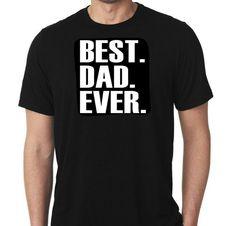 New Best Dad Ever Fathers Day Custom Tshirt by MarieLynnTshirt