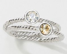 Holiday Gift Ideas! Touchstone Crystal's Trinket Rings are adorable and just $39!