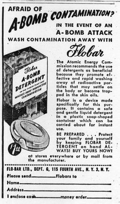 A-Bomb Detergent... Just wash that radiation poisoning down the drain!