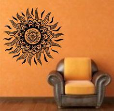 Sun Tribal Vinyl Wall Decal Sticker Art Decor Bedroom Design Mural  hawaii