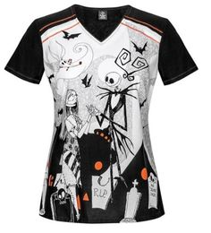 3f6e1058467 Cherokee Tooniforms Uniform Scrub top Nightmare Before Christmas Disney in  Clothing, Shoes & Accessories, Uniforms & Work Clothing, Scrubs