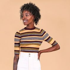 Second skin sweater in august sky stripes // Shop new arrivals in-store and online now! #WearVert