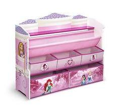 Toy-Box-Organizer-Kids-Storage-Bins-Deluxe-Princess-Book-Shelves-Disney-Pink-New