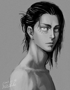 Eren Jaeger eee he is turning into such a fine man Armin, Levi X Eren, Levi Ackerman, Mikasa, Film Manga, Manga Anime, Anime Art, Attack On Titan Fanart, Attack On Titan Eren