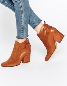 Hudson London Minka Tan Suede Heeled Ankle Boots