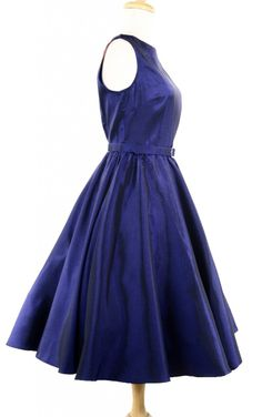 Hey Viv  !  - 50s Party Dress - Royal Blue Satin, $44.00 (http://www.heyviv.com/50s-party-dress-royal-blue-satin/)