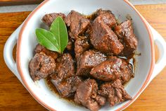 I have already shared many varieties of adobo, but this version is the more traditional pork adobo. The pork meat is simmered in garlic, soy sauce and vinegar.
