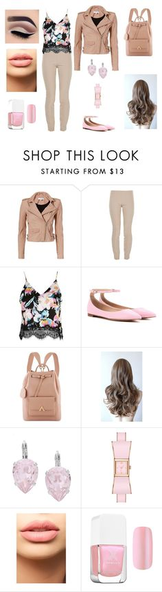 """""""Sin título #214"""" by aolivero ❤ liked on Polyvore featuring IRO, The Row, Topshop, Gianvito Rossi, L. Erickson and LASplash"""
