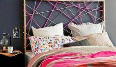 Cabecero de palos y lanas http://febreroesasi.blogspot.com