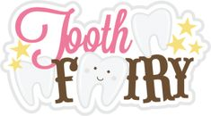 Tooth Fairy Title SVG Scrapbook title tooth fairy svg file for scrapbooking tooth fairy cut file