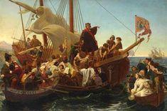 Departure of Columbus from Palos - E. Gottlieb Leutze