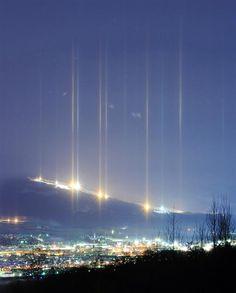 light pillar@hokkaido japan