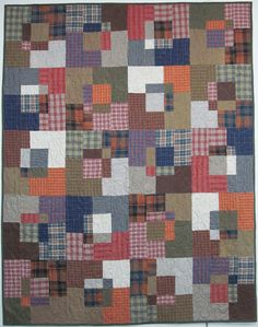Stack and Slash pattern, Exuberant Color: Flannel quilts