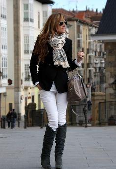 Pantalones blanco en Invierno
