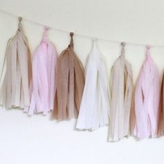 Tissue Paper Tassel Garland Kit, Blushing | 16ct - $12.95