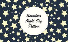 Seamless Night Sky Pattern - Patterns - 1