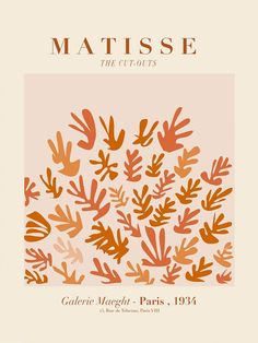 Matisse the cut outs earth - 24×36 in