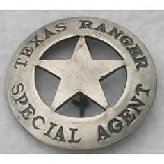 Texas Ranger Special Agent Old West Police Badge