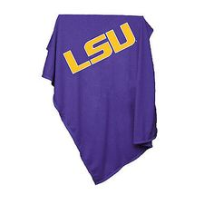 162-74 Logo Chair LSU Sweatshirt Blanket