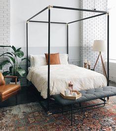 Dream Bedroom Bedroom Ideas Home Canopy Bed Classic Bedroom Modern Bedroom Mid-Century Modern Interior, Home Decor Bedroom, Home, Home Bedroom, Dream Bedroom, Cheap Home Decor, Modern Bedroom, Interior Design, Classic Bedroom