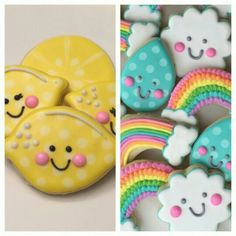 Lemons, Rainbows, Rain Drops and Clouds - Cut Out Sugar Cookie by the Doughmestic Housewife via Instagram @doughmestichousewife