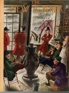 1952 New Yorker CoverNovember 8 - Foxhunt called on account of rain