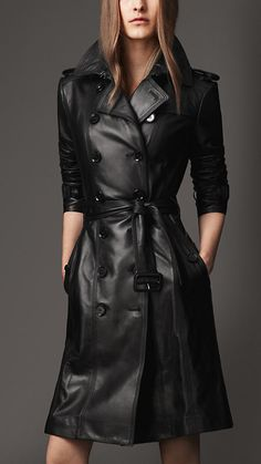 Burberry London Long Leather Trench Coat...aka the only way a leather trench is ever not going to look creepy ;)