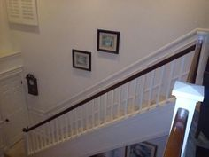 Addition of wainscot/chair rail on staircase