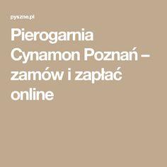 Pierogarnia Cynamon Poznań – zamów i zapłać online