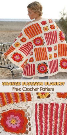 Orange Blossom Blanket [Free Crochet Pattern in PDF]
