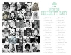 clebrity baby shower | guess the celebrity baby game baby shower bingo celebrity baby