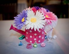 Pink and Purple Gerbera Daisy Baby Shower  I got published!!!