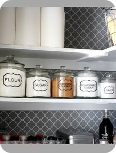 Labeled pantry jars!