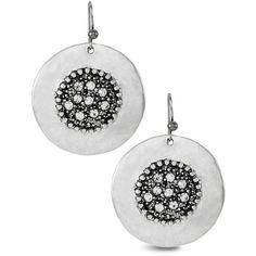 Chico's Olga Drop Earrings (1.715 RUB) ❤ liked on Polyvore featuring jewelry, earrings, silver, rhinestone stud earrings, hand crafted jewelry, earrings jewelry, handcrafted jewellery and chicos earrings