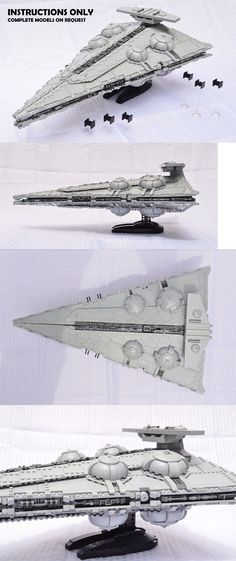 LEGO Instruction Manuals Ucs Lego Star Wars Imperial Immobilizer 418 S - Star Wars Models - Ideas of Star Wars Models - LEGO Instruction Manuals Ucs Lego Star Wars Imperial Immobilizer 418 Star Destroyer I Lego Star Wars, Star Wars Art, Star Trek, Lego Custom Minifigures, Lego Sculptures, Micro Lego, Lego Army, Lego Ship, Star Wars Models