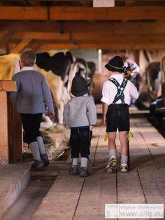 Kinder in #Tracht beim #Viehscheid im #Allgäu