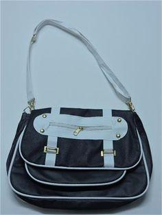 İki Katlı Siyah-Beyaz Çanta   Modelleri ve Uygun Fiyat Avantajıyla   Modabenle