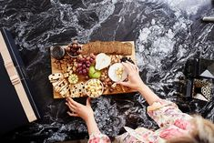 Platter goals! Wine Hampers, Platter, Goals, Treats, Food, Gourmet, Sweet Like Candy, Goodies, Essen