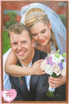 Wedding Portraits | Wedding Paintings | Bridal Portraits #wedding #weddingportrait #paint #painting #paintyourlife
