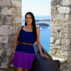 Thank you @stitchfix for keeping me stylish and comfortable on our honeymoon! Exploring the Spanjola Fortress in Hvar, Croatia in my new favorite dress  #stitchfixfriday