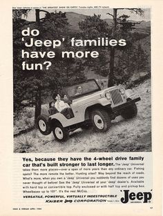 Of course JEEP Families have more fun: 1964 Jeep Universal