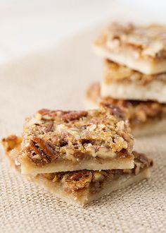 pecan pie bars from baked Bree Just Desserts, Delicious Desserts, Dessert Recipes, Pie Recipes, Pecan Pie Bars, Dessert Bars, Cupcake Cakes, Cupcakes, Sweet Recipes